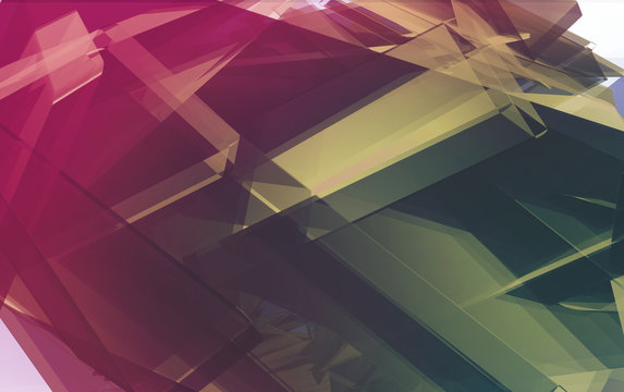 Computer generated polygonal background, suitable for technology and futuristic compositions