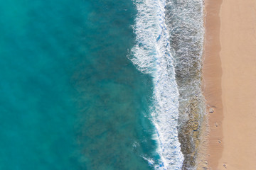 Tuinposter Kust Aerial photo of beach and ocean