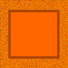 Orange Autumn Leaves Border with Copy Space