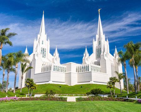 The San Diego California Mormon Temple.