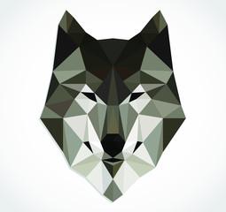 triangular wolf head