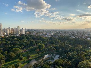 In de dag Brazilië Aerial view of Goiania, Goias, Brazil