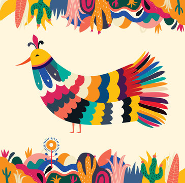 Mexico vector illustration. Colorful Mexican design. Stylish artistic Mexican decor for party and holidays