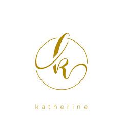 K letter logo design vector