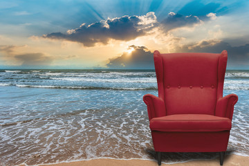 Sofa idea with natural sea Vacation tourism vip system