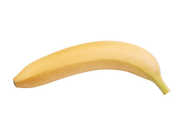 raw Yellow Banana Isolated
