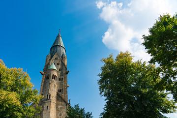 Tower of St Antonius Basilica in Rheine, Germany