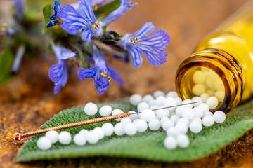 Alternativmedizin und Naturmedizin mit Homeopathischen Globulis und Akupunktur