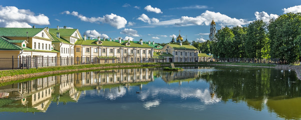 Lake in city, Russia