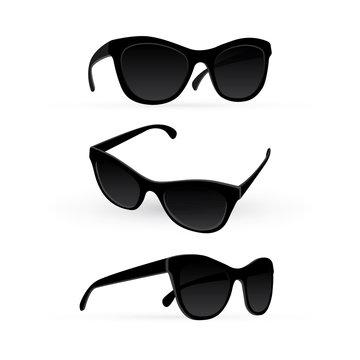 Sunglasses. Realistic sunglasses vector illustration. Part of set.