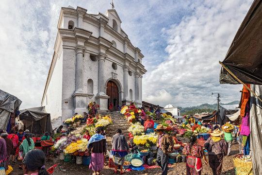 Chichicastenango, Market and Church Santo Tomás, Guatemala