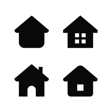 Set of home icon, home page, house, building. vector illustration