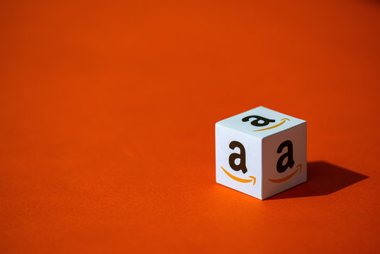 Paper Box with Amazon.com Logotype