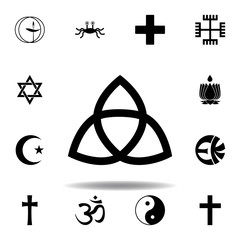 religion symbol, paganism icon. Element of religion symbol illustration. Signs and symbols icon can be used for web, logo, mobile app, UI, UX