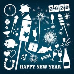 Grafikset Vektor Silvester/Neujahr