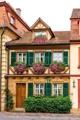 Historische Hausfassade in Bamberger Altstadt