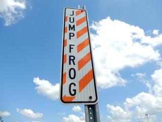 Jump Frog sign