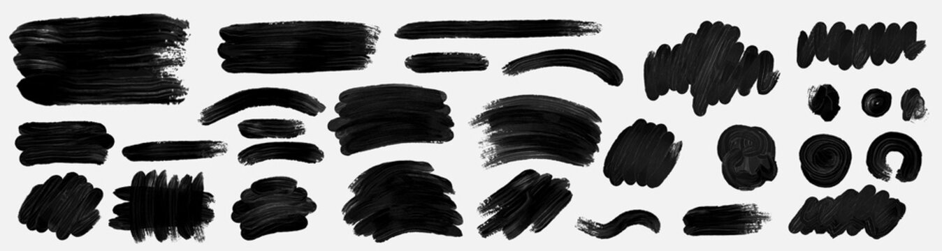 Brush paint. Brush grunge paint vector set.Vector paintbrush set. Grunge design elements.