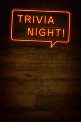 TRIVIA NIGHT、ネオンサイン