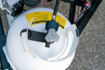 Cooking Gas Cylinder with pipe leading to RV