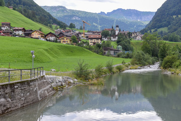 Landscape at the village of Melchtal on Switzerland