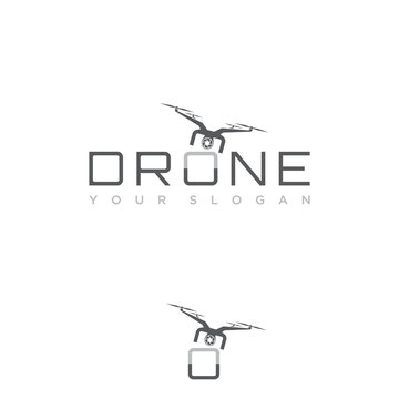 Design flying drone on the font o for your best business symbol