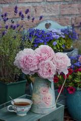 floral decor at terrace