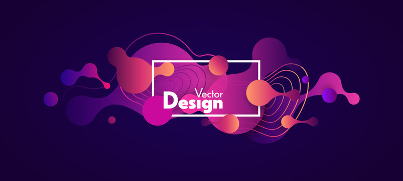Abstract fluid vector shapes.