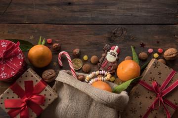 Saint Nicholas gift background