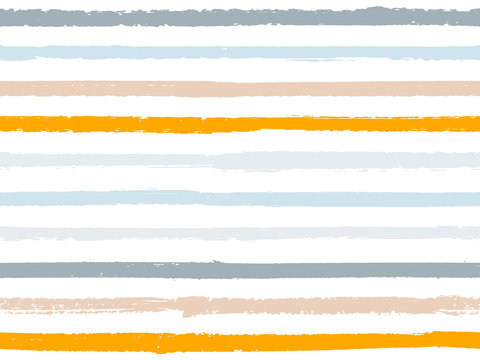 Hand drawn striped seamless pattern vintage background for wallpaper. Ink stripes lines watercolor vector. Grunge fashion texture linen fabric background. Cool seamless striped pattern.