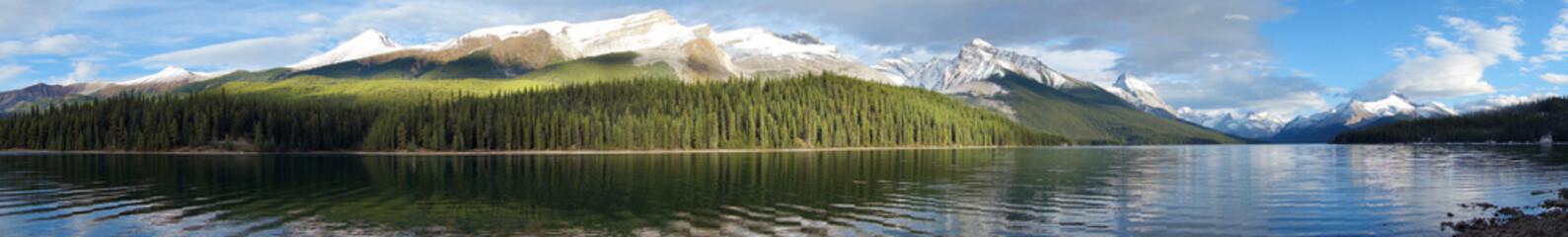 Maligne lake, Jasper national park, Canada, panoramic view