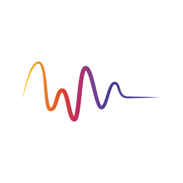colorful wave design vector template illustration