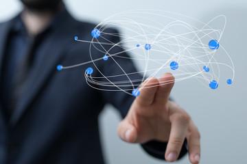 connection concept 3d networking tech