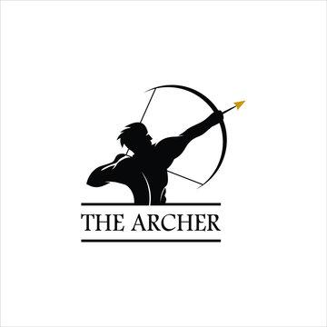 archer logo simple vintage emblem black silhouette illustration design idea