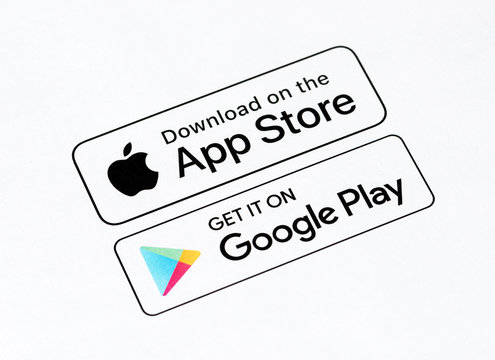 App Store and Google Play Buttons