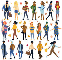 Autumn fashion doodle, illustration, doodle, sketch, drawing, vector