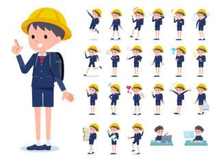 flat type primary school boy_emotion
