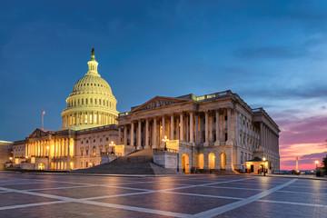 US Capitol Building at night, Washington DC, USA. Wall mural