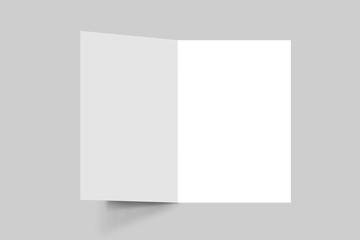 HALF FOLD BROCHURE 3D MOCKUP, 3D Brochure blank white template for mock Up and presentation design