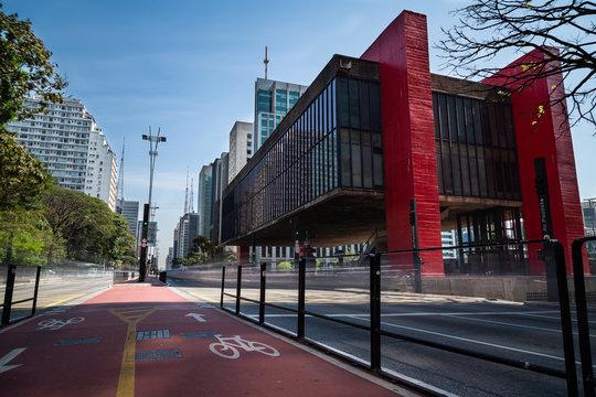 MASP, Avenida Paulista em São Paulo, Brasil