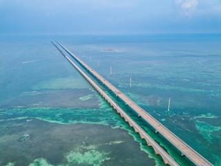 Aerial photo of Florida Keys Seven Miles Bridge