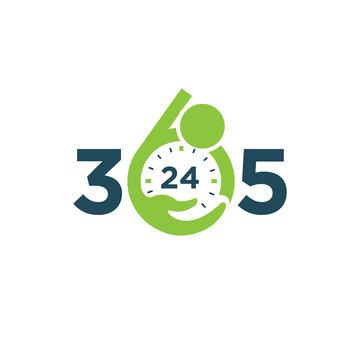 Care 365 day 24 hour logo/identity design template