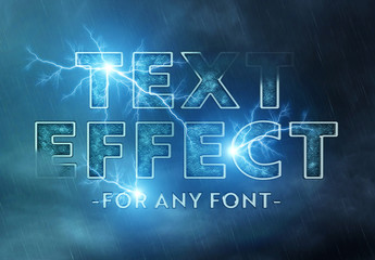 Lightning Storm Text Effect Mockup