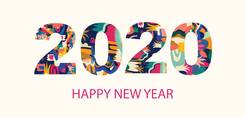 Fotomurales - Vector illustration for New Year celebration with gift box