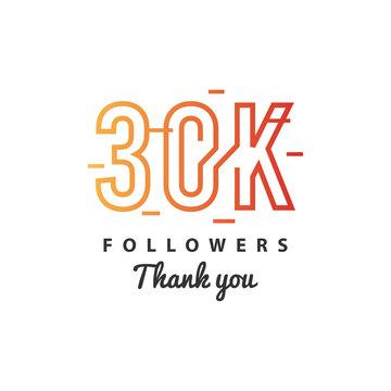 30k Followers thank you design