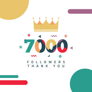 7000 Followers thank you design