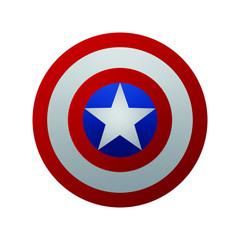 Captain America Shield. Vector illustration