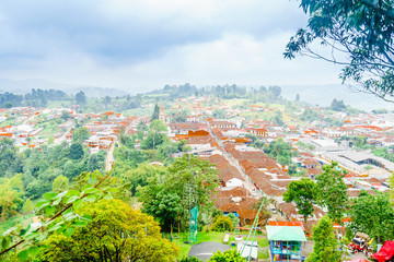 Cityscape view over the town of Salento, Colombia