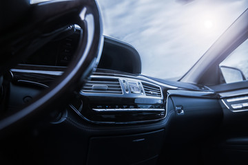 car interior with shallow depth of field