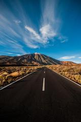 Foto op Plexiglas Bergen carretera al teide en tenerife
